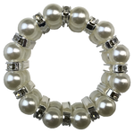 Pearl & Diamante Pony Tail Holder/Scrunchie
