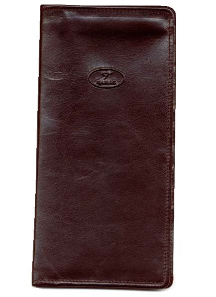 Kangaroo Leather Ticket Wallet - Black