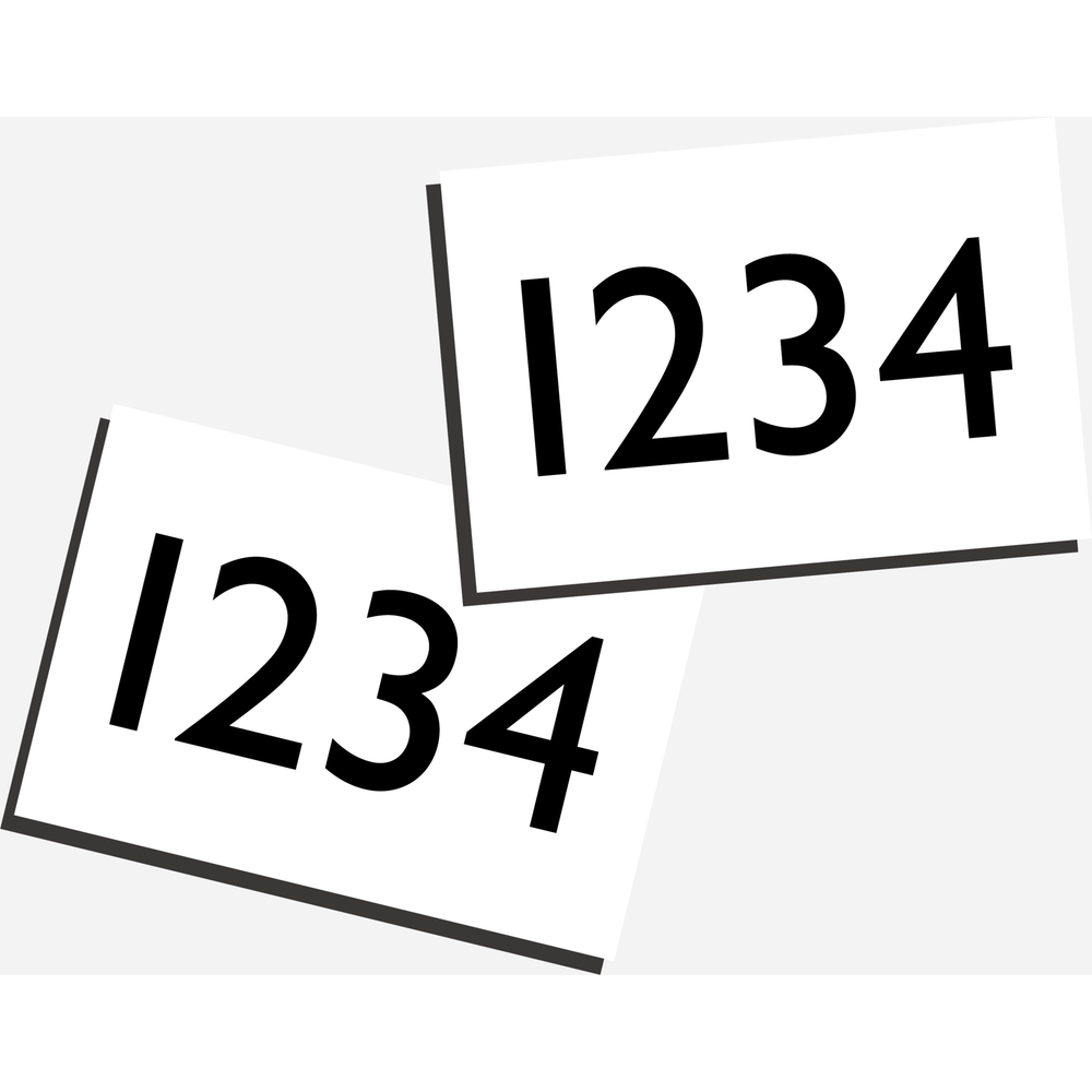 Engraved Numbers - for Number Holders