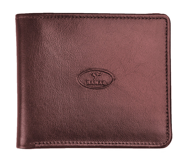 Kangaroo Leather Hip Wallet with Credit Card Fittings - Colours-Mahogany Brown