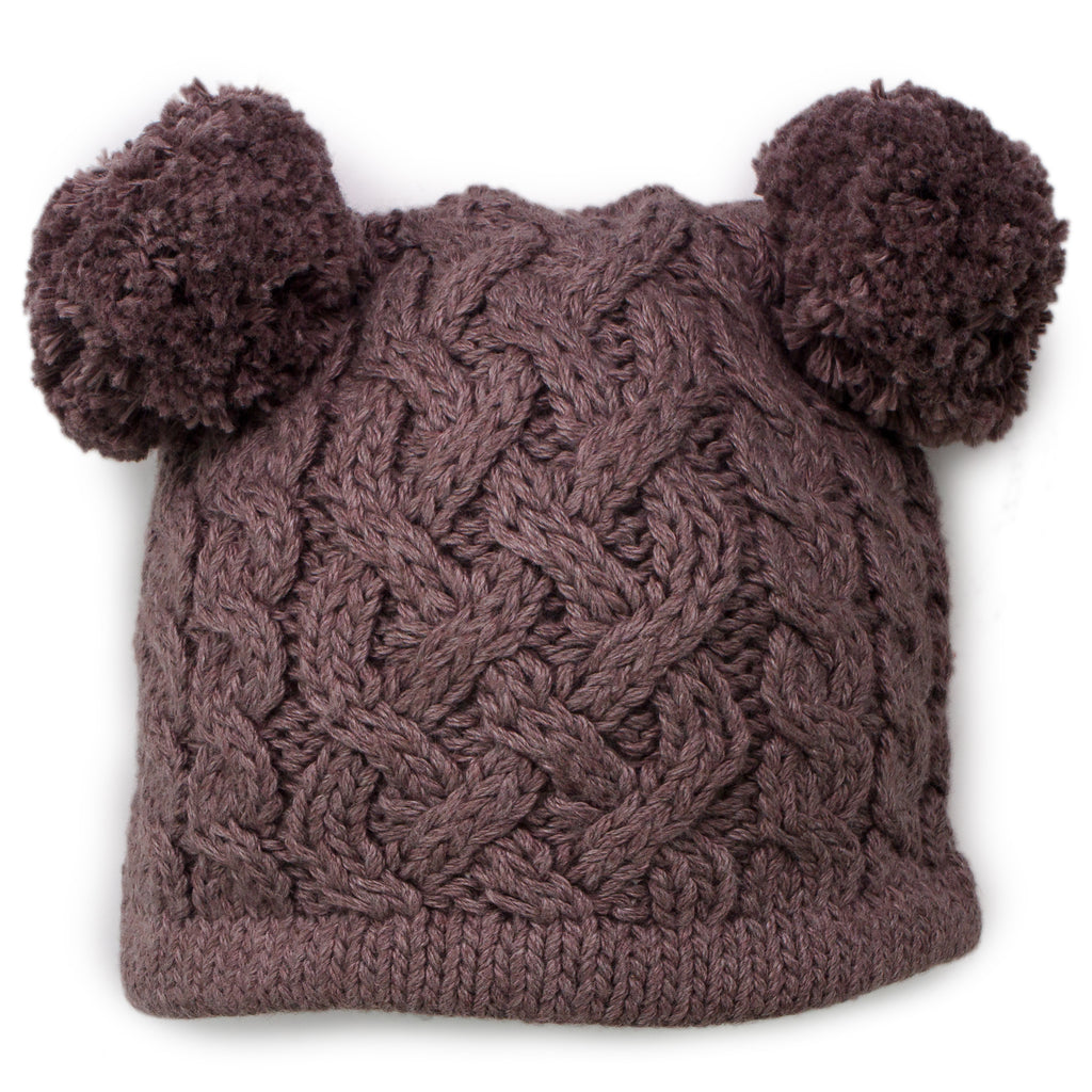 Pom Pom Boy Cable Knit Hat - Chizipoms