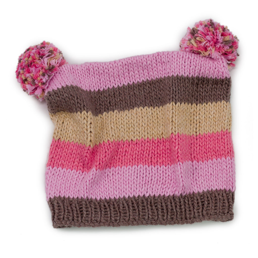 Floppy Poms Knitted Hat - Chizipoms