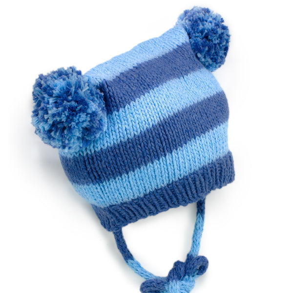 Floppy Poms Knit Hat - Chizipoms