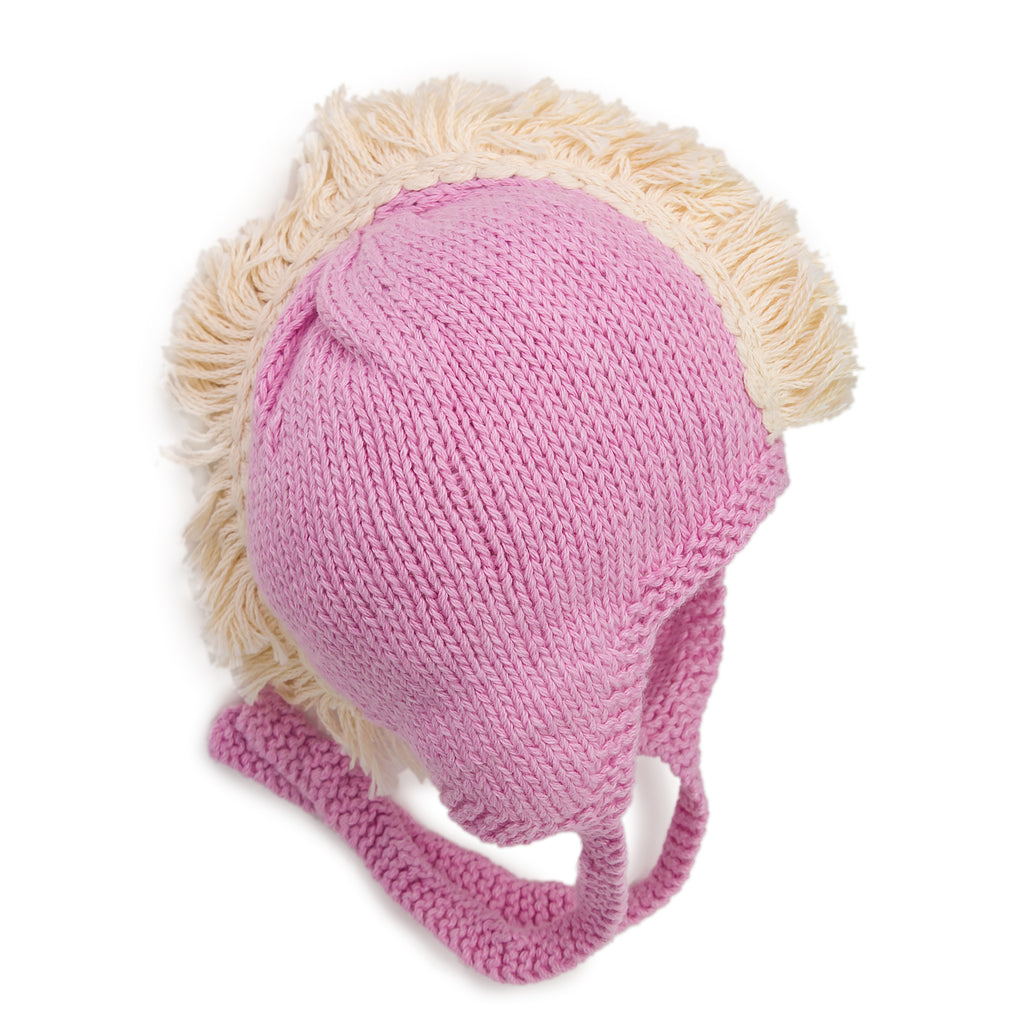 Fringe Up Top Mohawk Knit Hat - Chizipoms