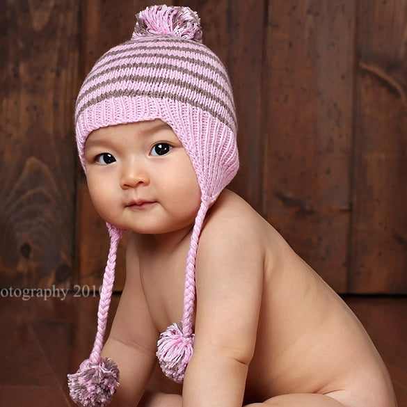 Pink and Pretty Hand Knit Hat - Chizipoms