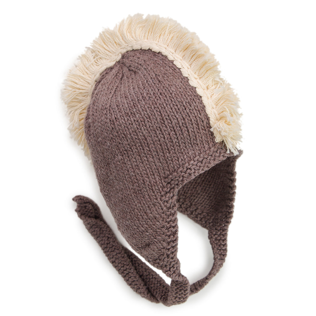 Drums Along the Mohawk Fringed Knit Hat - Chizipoms
