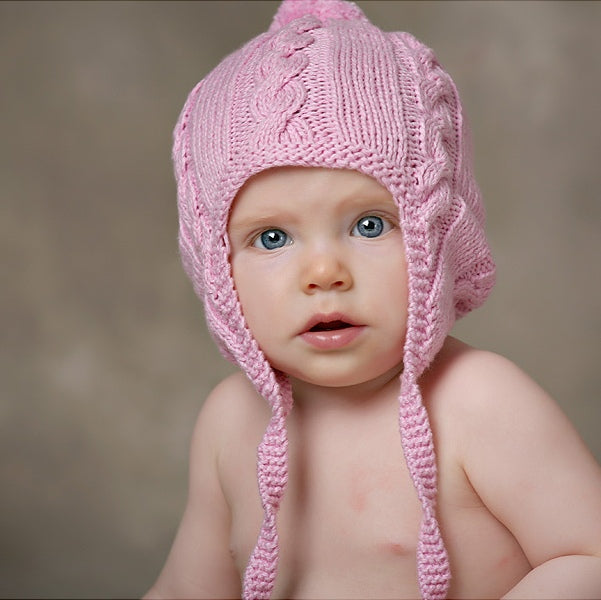 Pink Peek a Boo Hand Knitted Baby Hat – Chizipoms c5bd54ad871