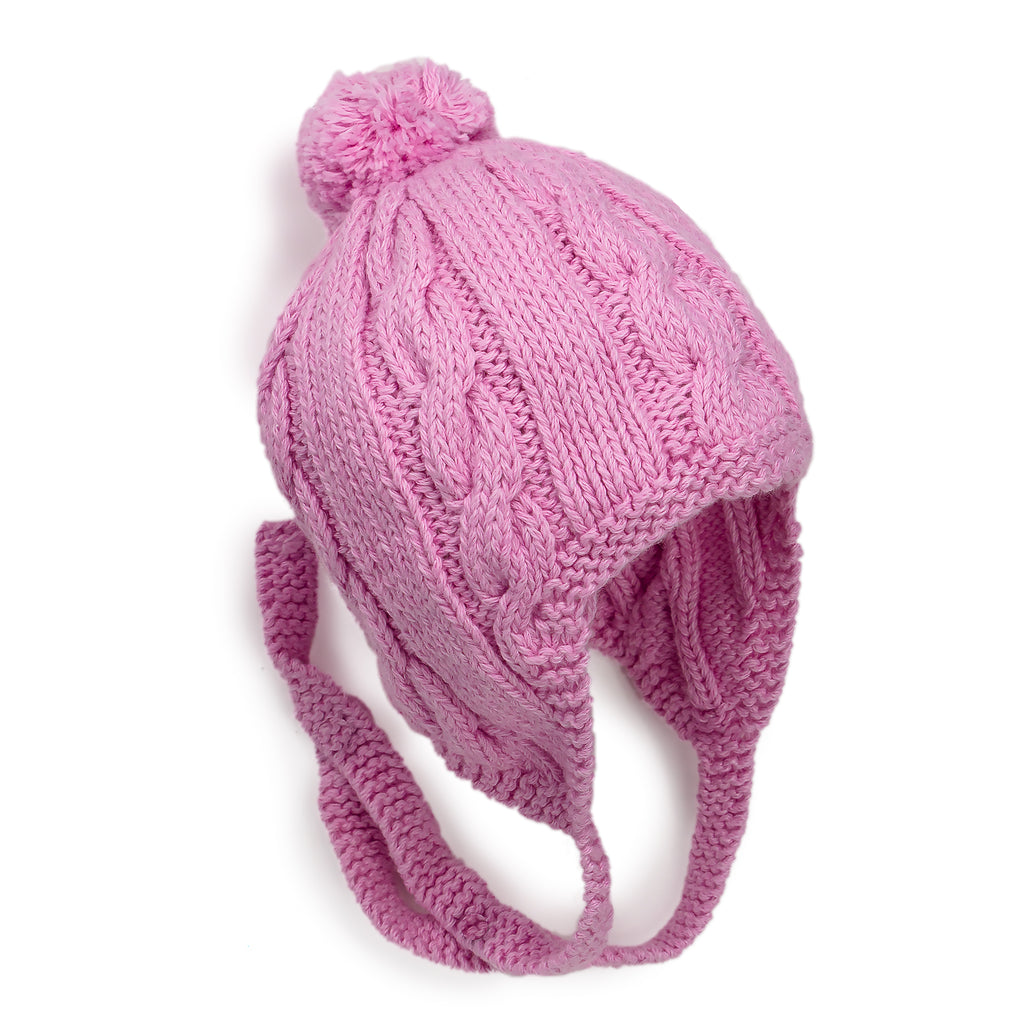 Pink Peek a Boo Hand Knitted Baby Hat - Chizipoms