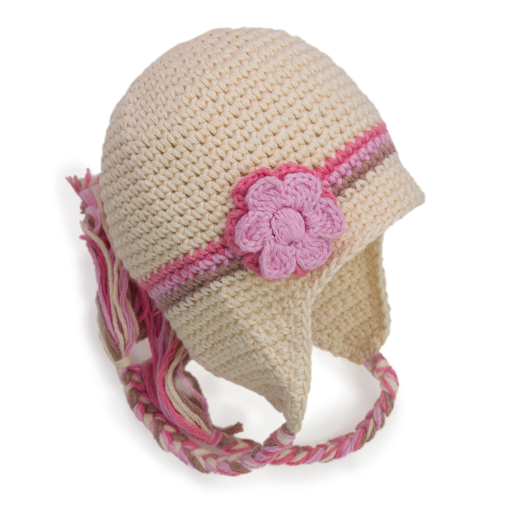 Spring Blossom Beanie Hand Crocheted - Chizipoms