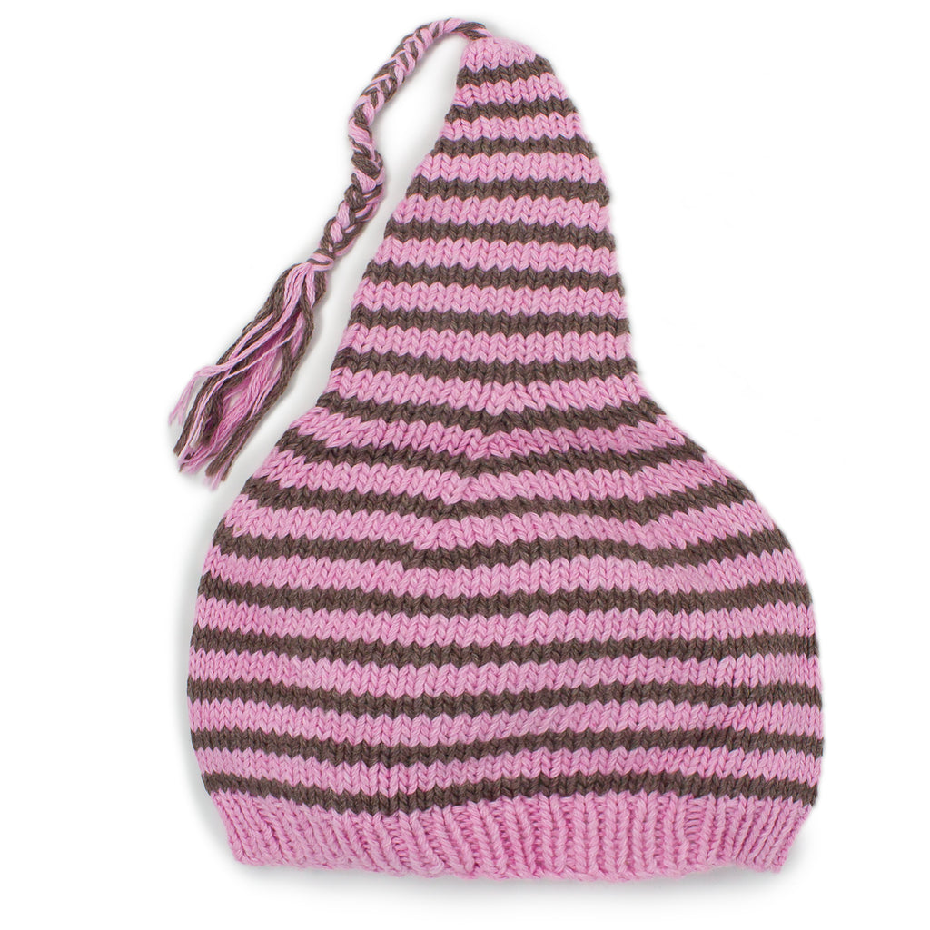 Stripey and Soft Knit Stocking Hat - Chizipoms