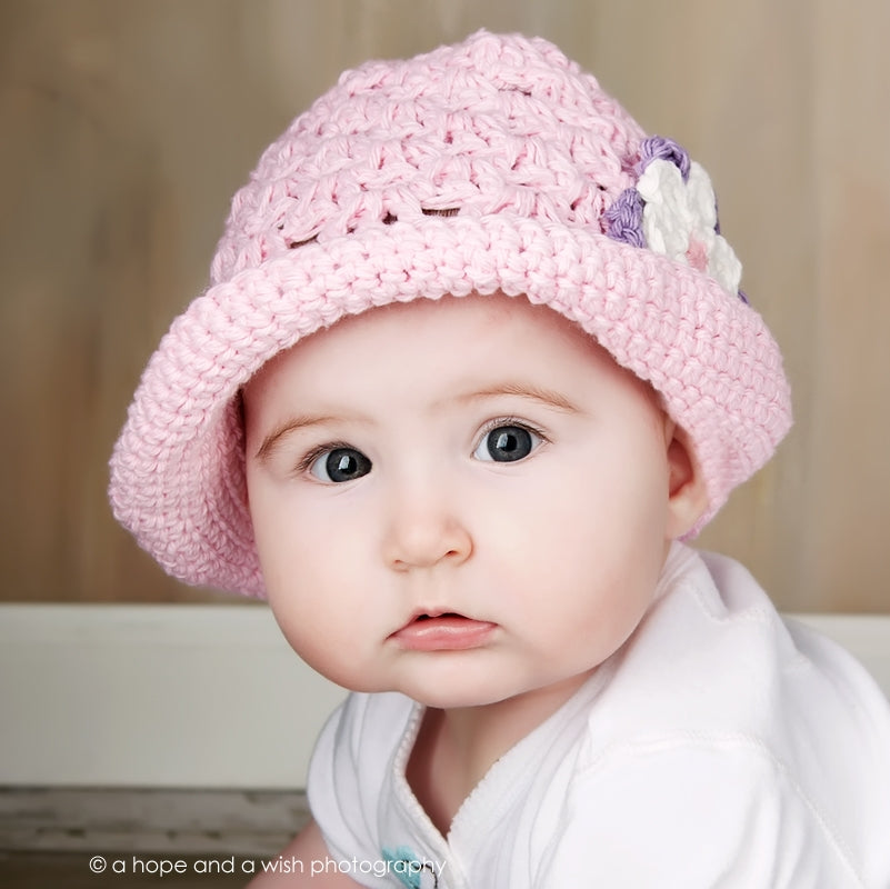 Precious Pink Hand Crocheted Hat - Chizipoms