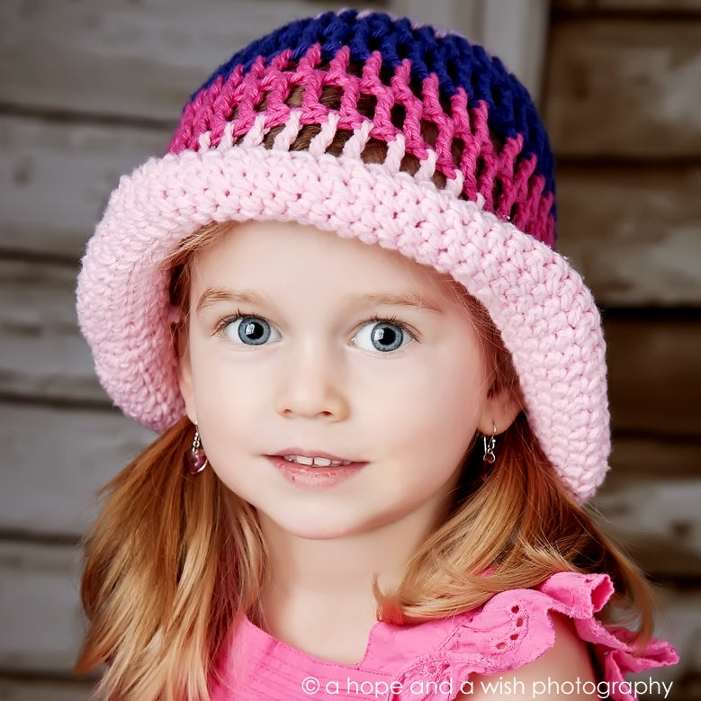 Sun Hat: Pink color mix - Chizipoms