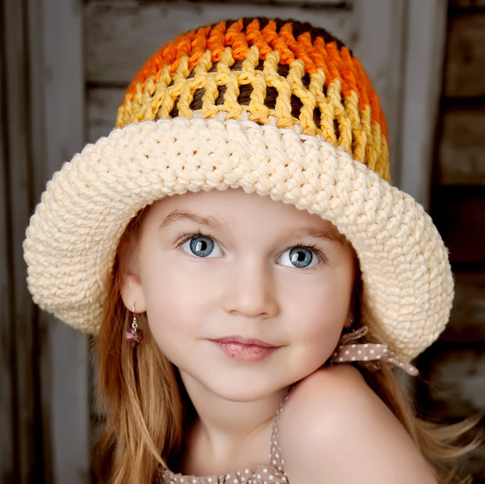 Sun Hat: Cream color mix - Chizipoms