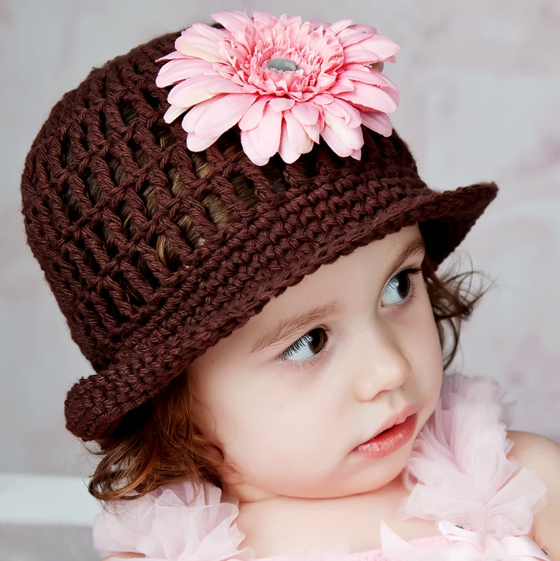 Lovely Lavender Blossom Crocheted Hat - Chizipoms