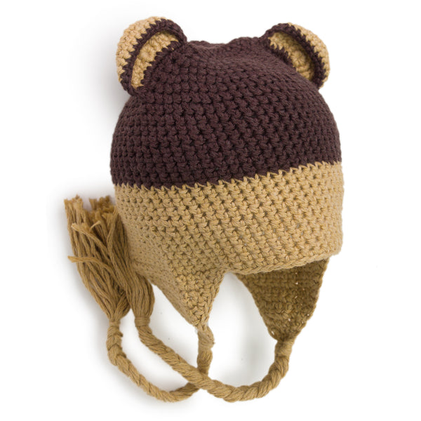 Two Toned Crochet Baby Bear Hat - Chizipoms