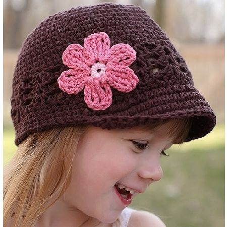 Shell and Daisy Crocheted Hat - Chizipoms