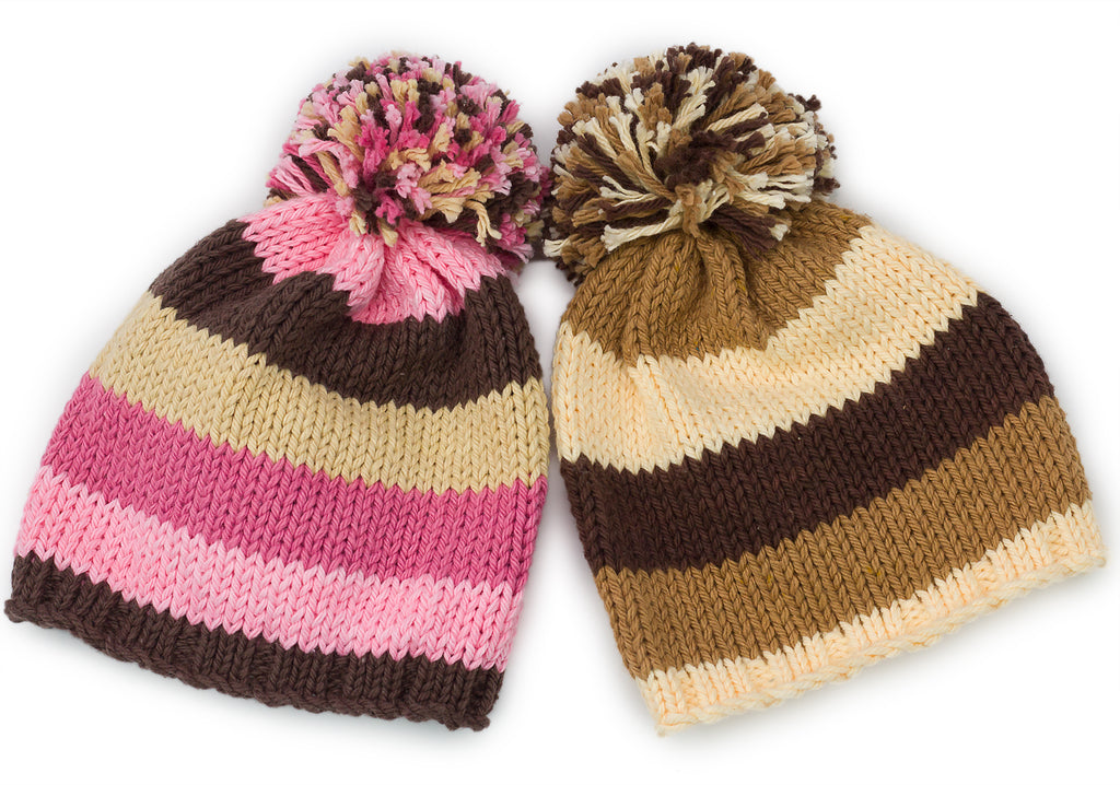 Beanie Hat: Multi color 2 - Chizipoms