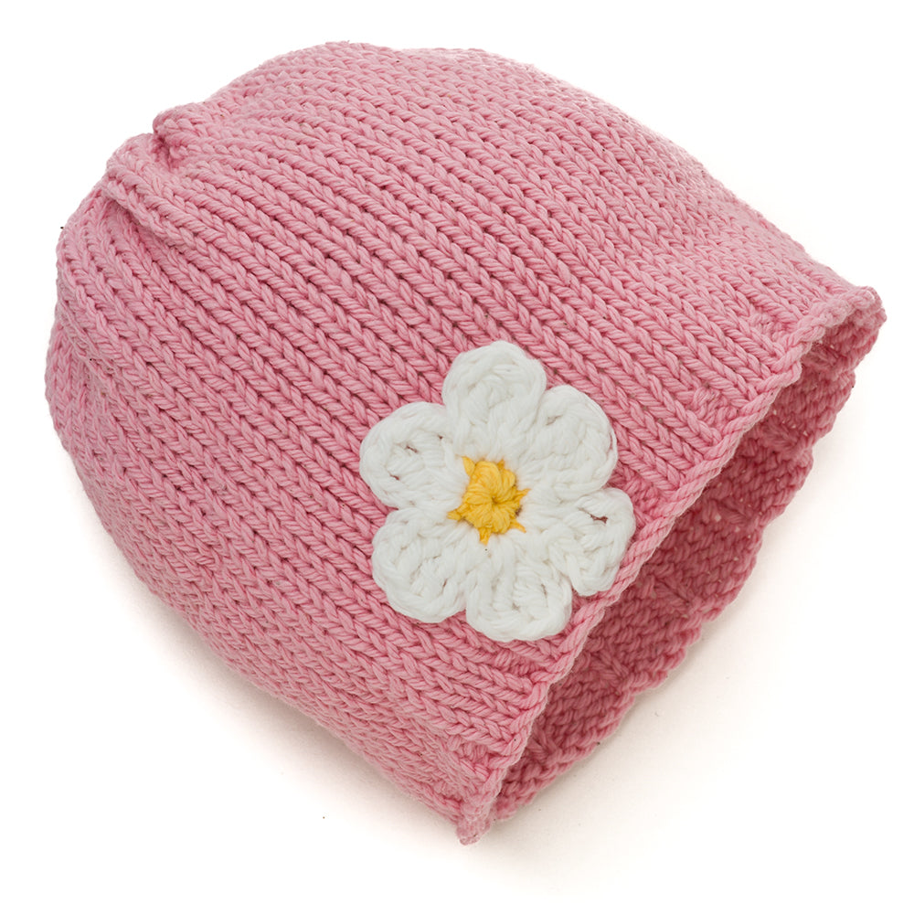 Peaches and Cream Blossomy Baby Hat - Chizipoms