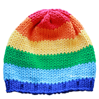 Treasure at the End of the Rainbow Knit Hat - Chizipoms