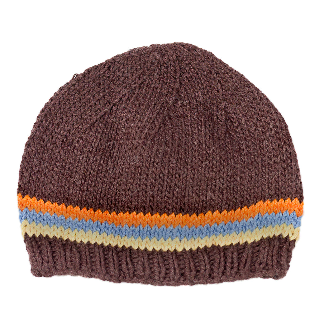 Beanie Boy Brown Knitted Hat - Chizipoms