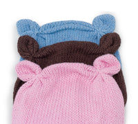 Baby Bear Brown Knitted Hat - Chizipoms