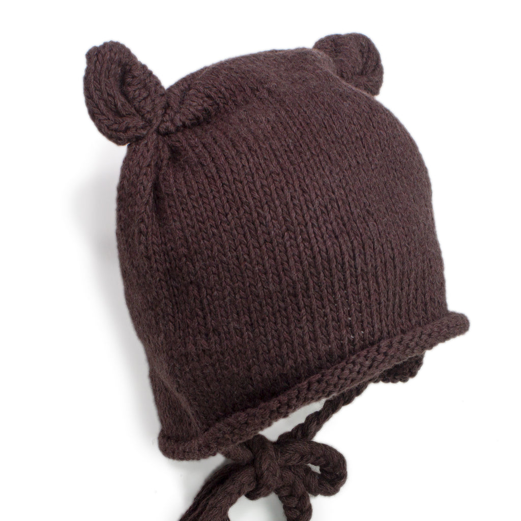 d7cd1140930 Baby Bear Brown Knitted Hat - Chizipoms