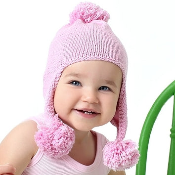 Triple Bounce Pom Pom Knit Hat - Chizipoms