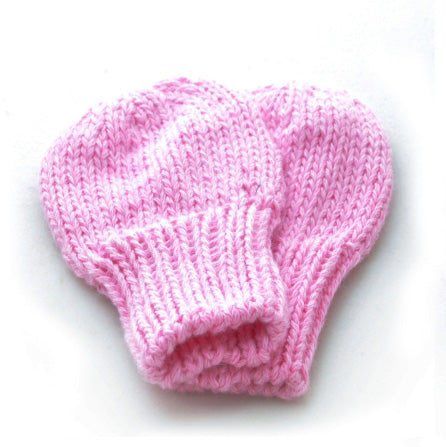 Mittens: style 2 in pink - Chizipoms