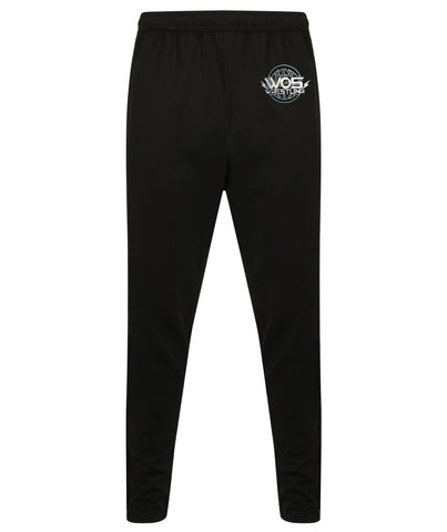 WOS Tracksuit Bottoms (Black / White Stripe) (STOCK - MID FEB)