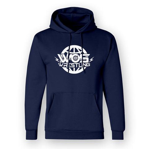Unisex Navy World Of Sport Wrestling Logo Hoody