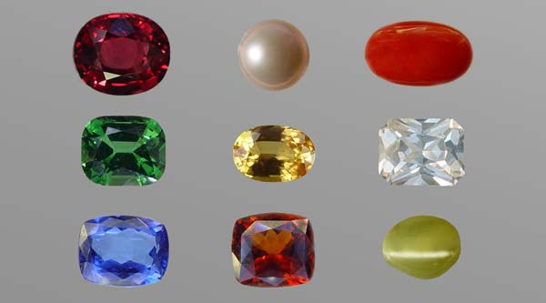 Gemstones for the planets in Vedic astrology (Jyotish)