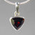 Garnet 2.8 ct Triangle Cut Sterling Silver Pendant