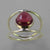 Garnet 3 ct Pear Cab Sterling Silver Ring, Size 8.75
