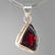 Garnet 5 ct Faceted Sterling Silver Pendant