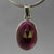 Garnet 8.0 ct Faceted Oval Sterling Silver Pendant