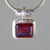 Garnet 5 ct Faceted Emerald Sterling Silver Pendant