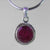 Star Ruby 8.5 ct Round Sterling Silver Pendant