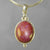 Star Ruby 16.3 ct Oval Cabochon Sterling Silver Pendant