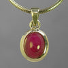 Ruby 6.24 ct Oval Sterling Silver Pendant