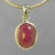 Ruby 6.2 ct Oval Sterling Silver Pendant