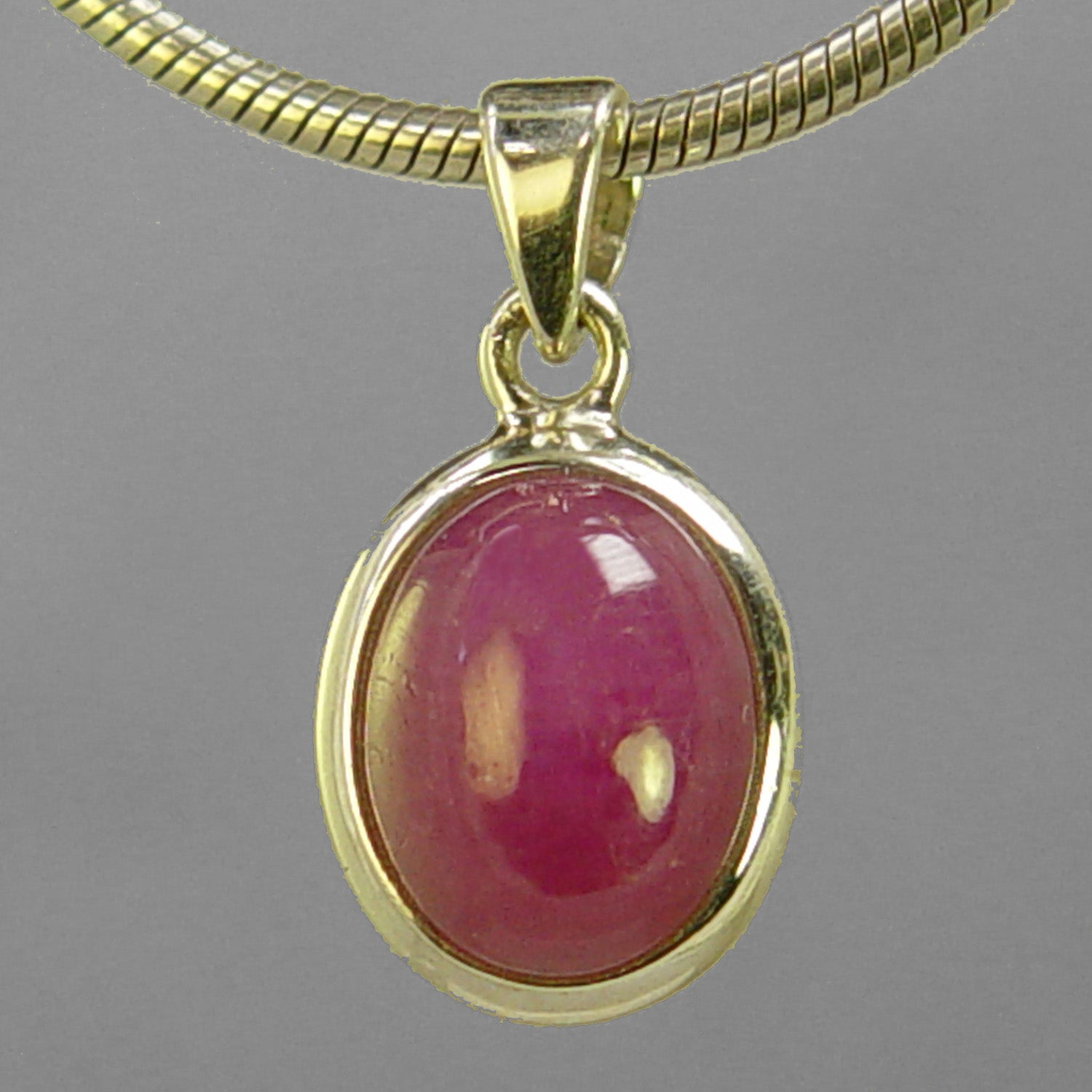 Ruby 8.10 ct Oval Sterling Silver Pendant