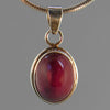 Ruby 10 ct Oval in Sterling Silver Pendant