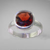 Garnet 3.64 ct Cushion Cut Sterling Silver Ring, Size 8.5