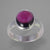 Garnet 3.7 ct Oval Cab Sterling Silver Ring, Size 8.5