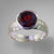 Garnet 5.56 ct Round Sterling Silver Ring, Size 8