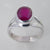 Ruby 2.6 ct Faceted Oval Sterling Silver Ring, Size 6