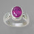 Ruby 2.6 ct Faceted Oval Sterling Silver Ring, Size 5.5
