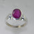 Ruby 3.0 ct Oval Sterling Silver Ring, Size 7.25