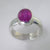 Ruby 3.5 ct Oval Sterling Silver Ring, Size 8.5