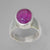 Ruby 3.8 ct Oval Sterling Silver Ring, Size 5